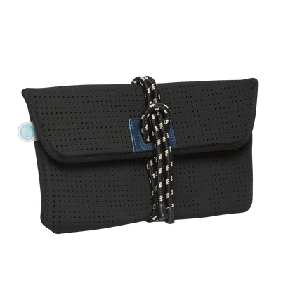 Ari Black Neoprene Clutch - Chuchka