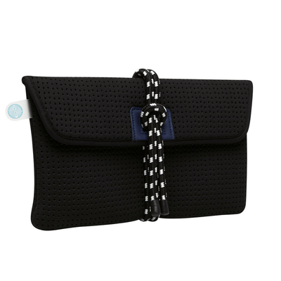 Bey Black Neoprene Clutch - Chuchka