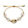 Gold Mid Shell Bracelet (Adjustable) - Chuchka