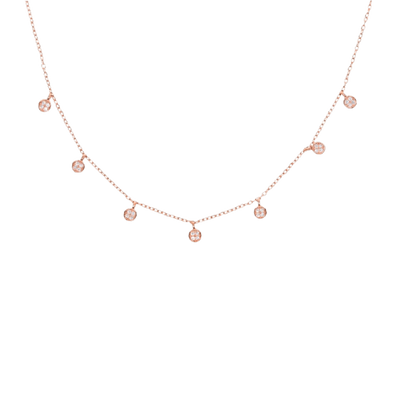 Sparkle Rose Gold Necklace - Chuchka