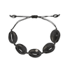 Black Shell Bracelet with Sparkle (Adjustable) - Chuchka