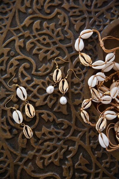 Gold Dipped Shell Earrings - Chuchka