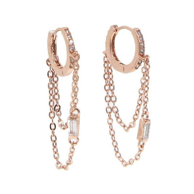 Lover Earrings - Rose Gold Plated - Chuchka