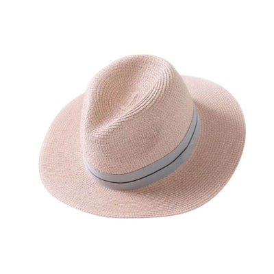 Ladies Panama Hat - Pink - Chuchka