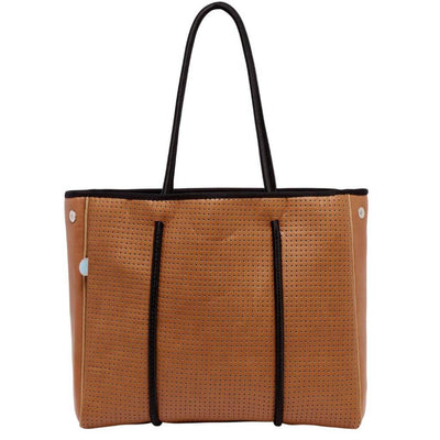 Lina Vegan Leather Mini Tote (Tan) - Chuchka
