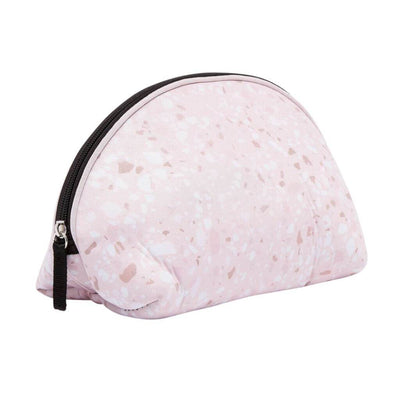 Terrazo Pink Neoprene Makeup Bag & Travel Pouch - Chuchka