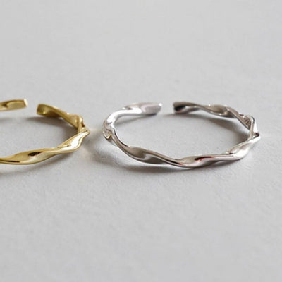 Smooth Twist Ring - Fine (Silver) - Chuchka