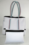 Toni White Neoprene Tote Bag (Double Strap) - Chuchka