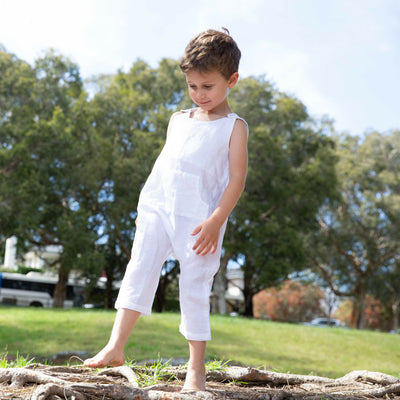 Kids Linen Jumpsuit