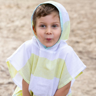 Kids Hooded Turkish Towel Poncho - Chuchka