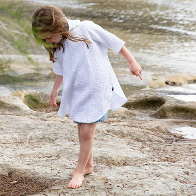 Kids Crinkle Hooded Poncho - Chuchka