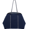 Bondi Beach Bag (Navy with Internal Beach Print) - Chuchka