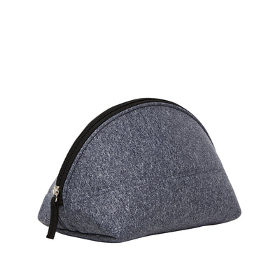 Heather Neoprene Makeup Bag & Travel Pouch (Grey) - Chuchka