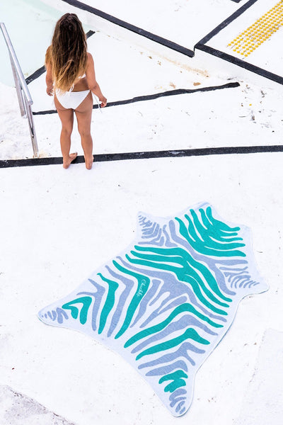 Green Zebra Jungle Towel perfect for pool