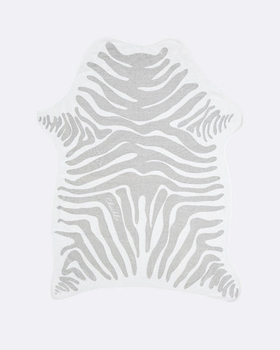 Zebra Jungle Towel (Faux Hide Grey) - Chuchka