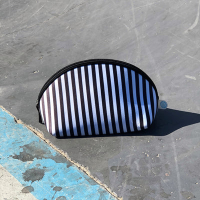 Stripe Neoprene Makeup Bag & Travel Pouch - Chuchka