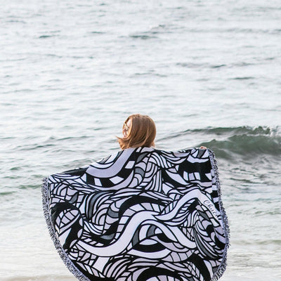Serpent Round Beach Towel - Chuchka