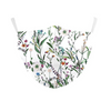 Face Mask White Floral - kids