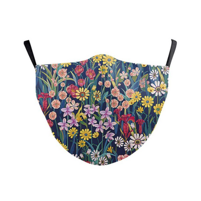 Face Mask Blue Floral