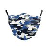 Face Mask Kids Blue Camo