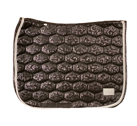 Black floral saddle pad - Dressage