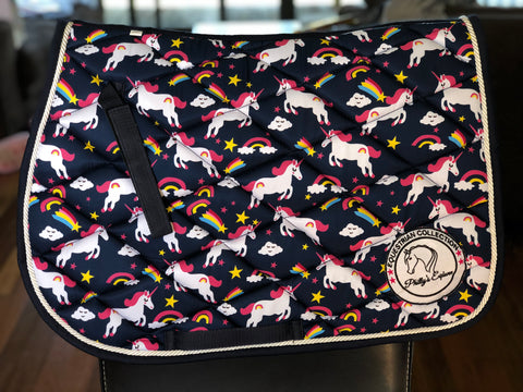 Pony size Unicorn Saddle Pads