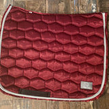 LUXE DRESSAGE SADDLE PAD - BURGUNDY