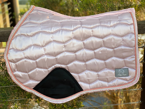 LUXE JUMP CUT SADDLE PAD - ROSE
