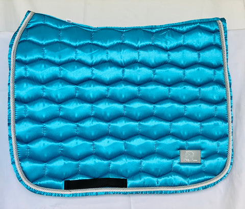 LUXE DRESSAGE SADDLE PAD - TURQUOISE