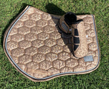 Champagne floral saddle pad - Jumping