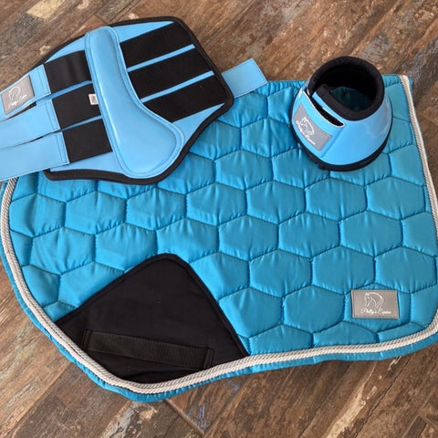 LUXE JUMP SADDLE PAD - TURQUOISE