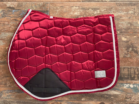LUXE JUMP SADDLE PAD - BURGANDY