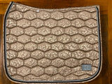 Champagne floral saddle pad - Dressage