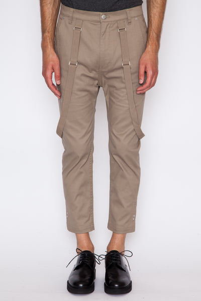 Cropped Suspender Trouser