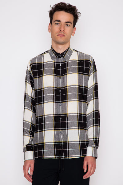 Trin Button Panel Shirt