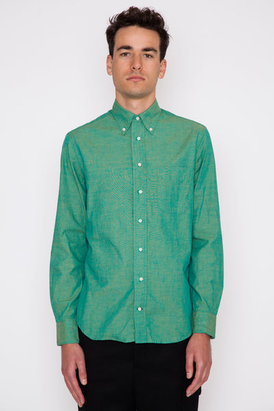 Green Iridescent Chambray