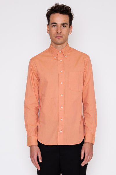 Peach Iridescent Chambray