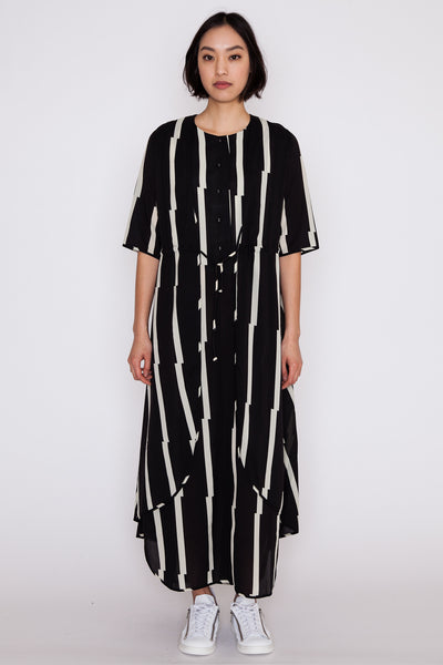 Striped Allen Dress