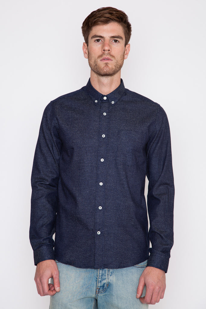 Indigo Twill Button-Down