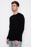 Black Core Cashmere Crewneck