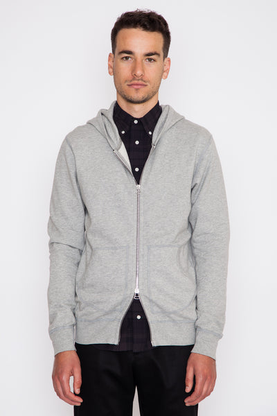 Heather Grey Base Terry Full Zip Hoodie