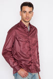 Burgundy Mini Ripstop Shirt Jacket