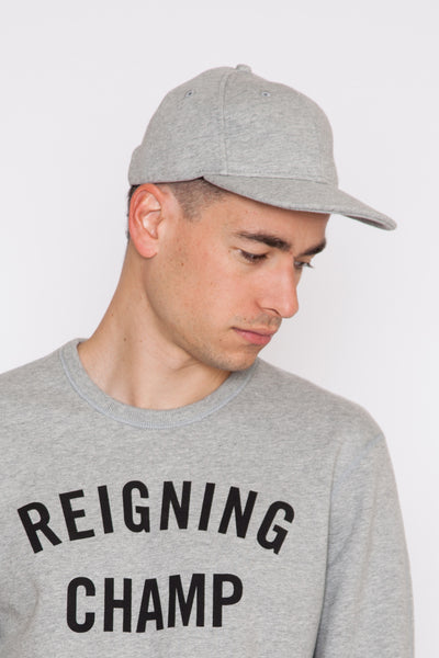 Heather Grey Midweight Terry 6 Panel Cap