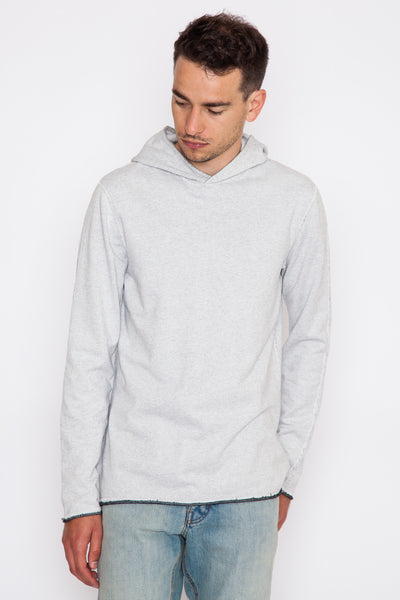 Winter White Diagonal Terry Pullover Hoodie