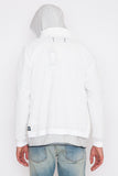 Winter White Stretch Nylon Stow Away Jacket