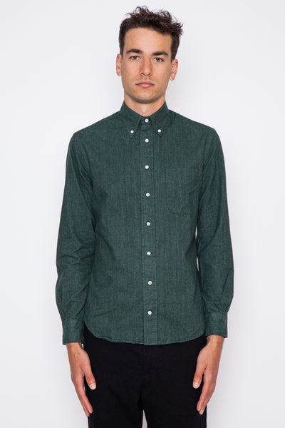 Green Flannel Chambray