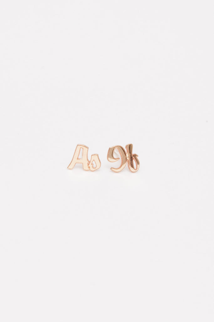 As If Letter Studs