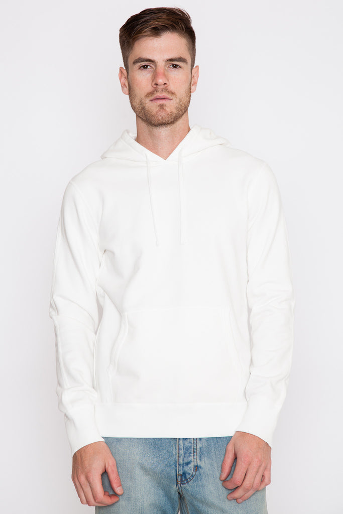 Winter White Midweight Terry Side Zip Hoodie