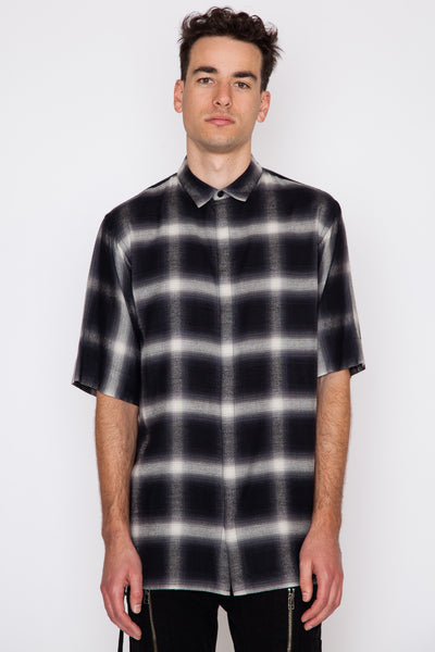Shadow Plaid Drawcord S/S Shirt