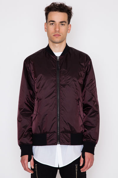 Reflective Nylon Reversible Bomber
